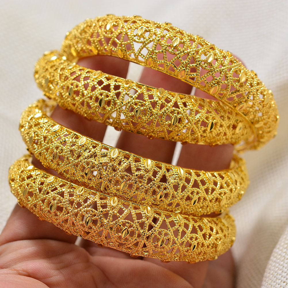 Annayoyo 1Pcs Vintage pattern Gold Color Bracelet Islamic Muslim Arab Bracelet Women Men Middle Eastern Jewelry African Gifts