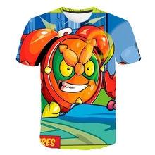 NEW 3D Fashion T-shirts Summer Short Sleeve O-neck Tshirt Superzings Tees For Baby Boys Kids Birthday Tops Girls T-shirt 4-14T