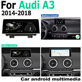 Android Touch Screen Multimedia Player Stereo Display navigation GPS WIFI BT For Audi A3 8V 2014 2015 2016 2017 2018 MMI image