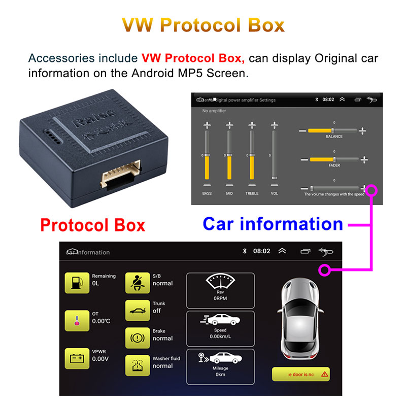 Android 9'' VW GPS 2 din 8