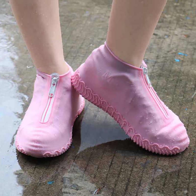 Zapatos impermeables cubierta de lluvia Zapatos hombres/mujeres niños zapatos impermeables cubre gran tamaño 24-47