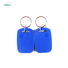лучшая цена 50pcs/lot 13.56MHz RFID IC Key Tags Keyfobs Token Keychain For Arduino(Blue, red, yellow)