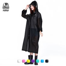 FGHGF Fashion EVA Women Raincoat Thickened Waterproof Rain Coat Women Clear Transparent Camping Waterproof Rainwear Suit