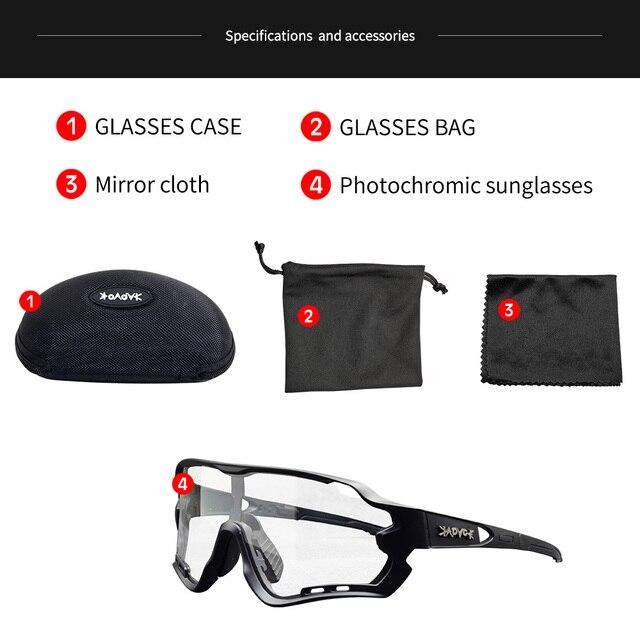 Óculos fotocrômico esportivo de marca, óculos de sol mtb bicicleta de montanha lente para ciclismo ao ar livre 6