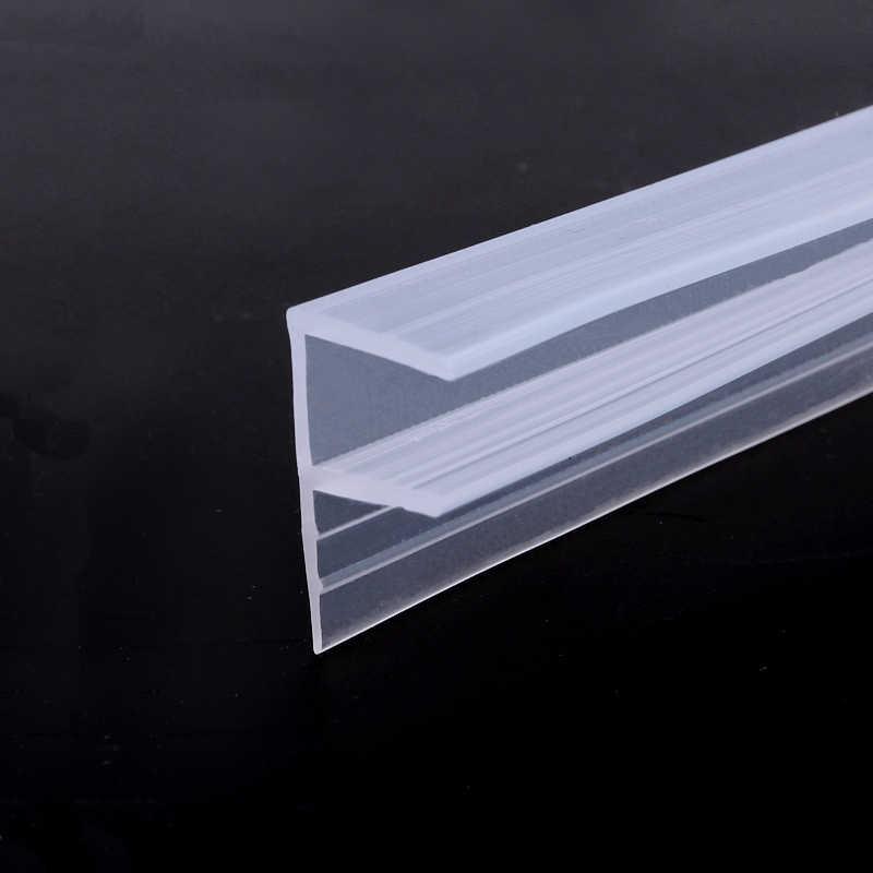 Tira de vedação de borracha para porta de chuveiro, 2 metro/lote ampliada forma de f/h de silicone faixa de vedação de vidro para 6/vidro de 8/10/12mm