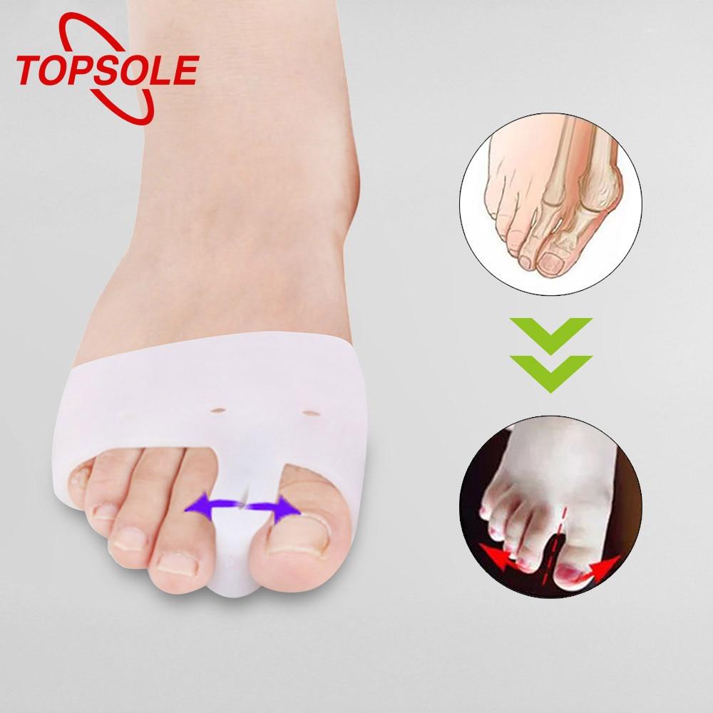 TOPSOLE Silicone Cushion High Heels Slip Corrector Plantar Fascia Inflammatory Toe Protector Foot Care Silicone Insole O1001