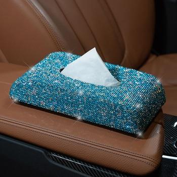 1 Piece Universal Bling Crystal Diamond Rhinestone Car Paper Towel Box Tissue Box