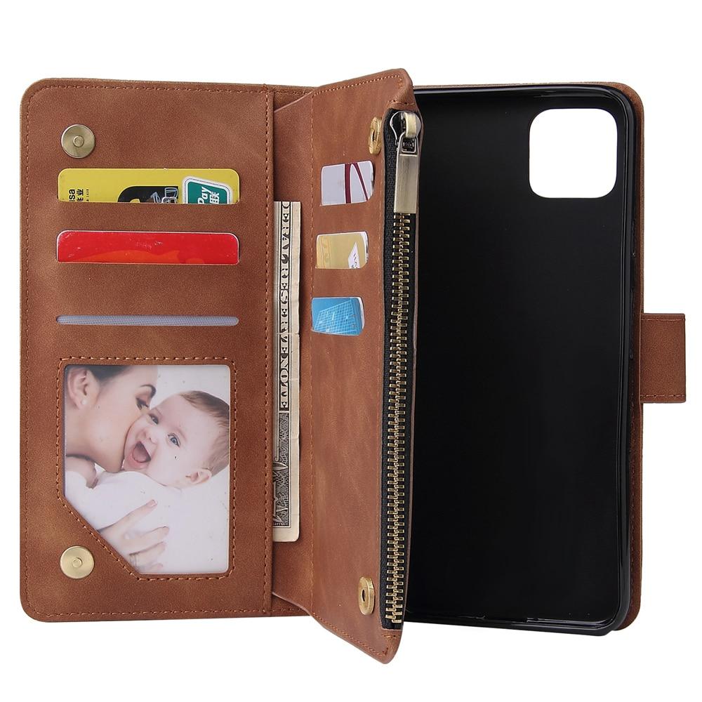 Luxury Leather Zipper Wallet For Google Pixel