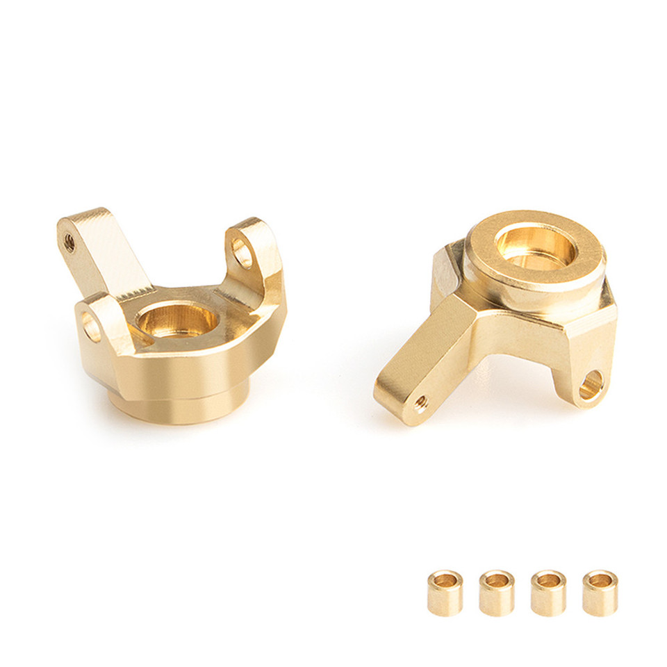 2pcs Brass Steering Knuckle Set For Axial SCX24 90081 RC Car Upgrade Spare Parts