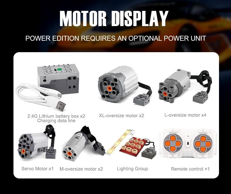 1 to 8 ratio 13090 Technic Series McLaren P1 Orange Racing Car Set APP RC Model Building Blocks Power Motor Function Toys 20087 31