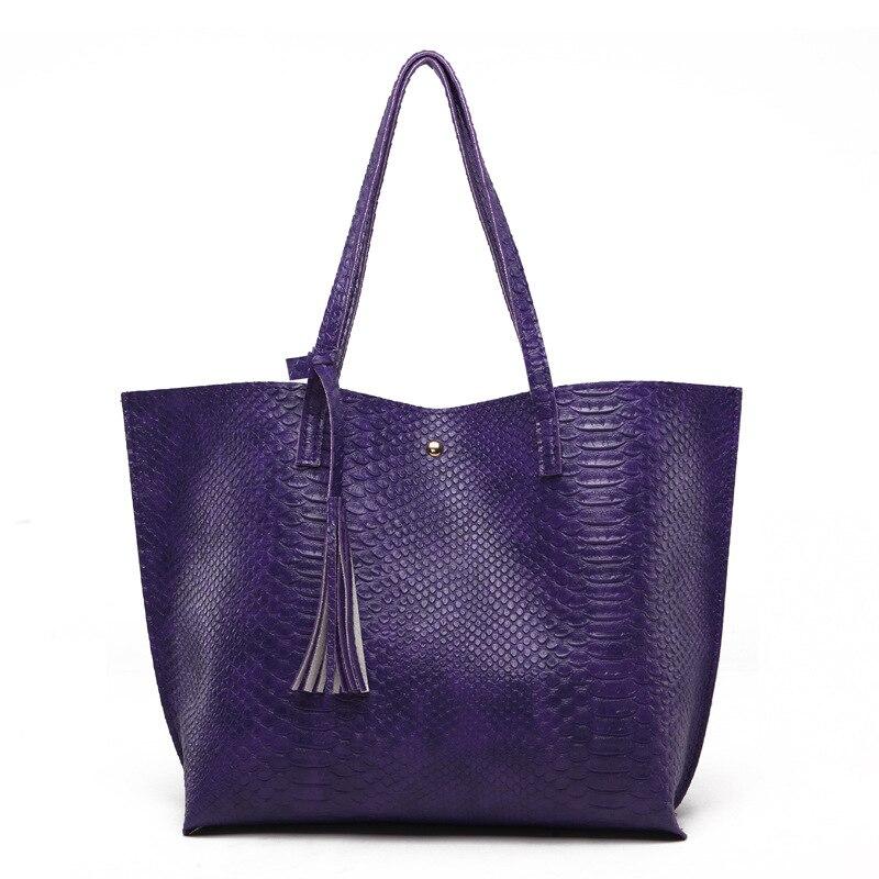Designer Tote Bag Leather Handbag Women Snake Pattern Print Big Handbags Fringe Fashion Large Capacity Totes Bags For Woman
