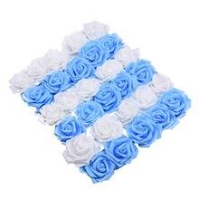 20 шт декоративные розы из пены 6 см