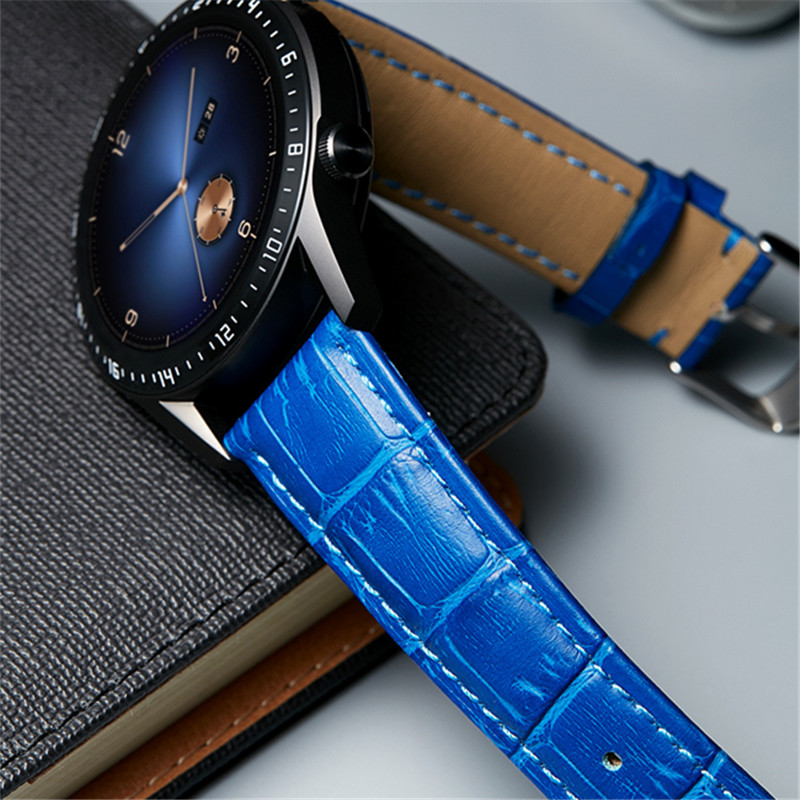BINLUN Watchbands Genuine Leather Watch Strap 12mm 14mm 16mm 18mm 20mm 22mm 23mm Watch Accessories Women Men Belt Band