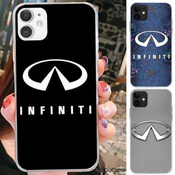 Riccu Fashion Super Car Infiniti Logo Phone Case For iPhone 7 8 Plus X XS Max XR Coque Case For iphone 5s SE 2020 6 6s 11Pro 12 image