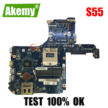 AKEMY H000057670 H000067830 H000055980 laptop motherboard for toshiba satellite S55 S55 main board Intel ddr3 Full tested