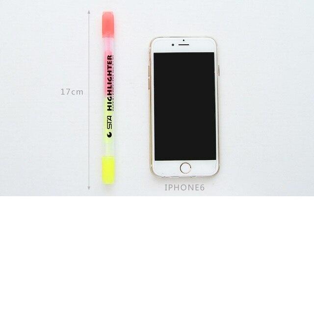 6 шт японский конфеты цветные твин советы маркер ручка прочный фотография