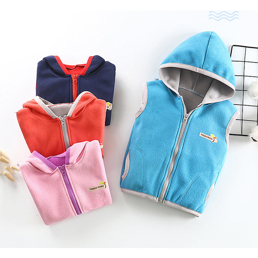 Vest Waistcoat Sports-Jacket Fleece Autumn Girls Winter Children Sleeveless Gilet 1-12T