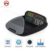 Auto Hud Display 2 in 1 GPS OBD2 Geschwindigkeit Projektor Digitale GPS Tacho Auto HUD Display On-board Computer sicherheit Alarm Hud HD