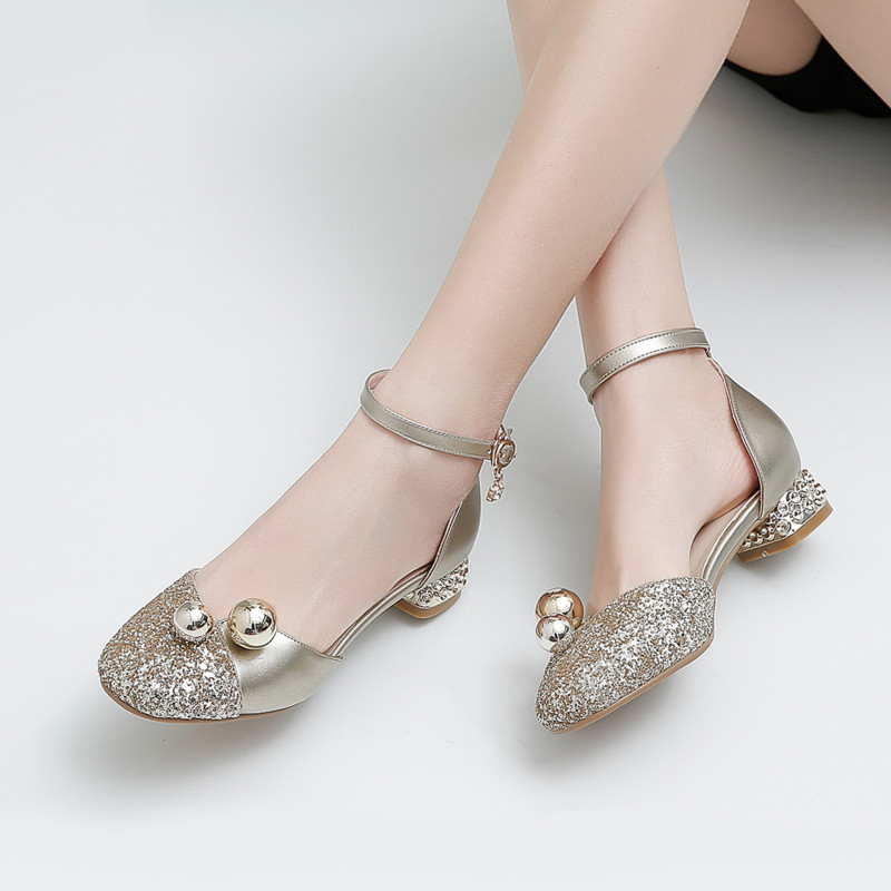 Girls Sandals High Heels Party Princess Leather Shoes For Girls Party Wedding