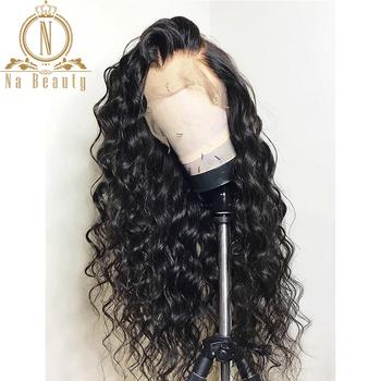 13 #215 6 koronki przodu włosów ludzkich peruk brazylijski peruki z włosów typu remy Water Wave ludzkich włosów koronki przodu peruki Pre oskubane z do włosów dla dzieci kobiet tanie i dobre opinie Na Beauty long CN (pochodzenie) Remy włosy Ludzki włos Pół maszyny wykonane i pół ręcznie wiązanej Ciemniejszy kolor tylko