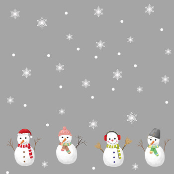 2020 Snowflake Decor Christmas Wall Sticker Home DIY Decals For Door And Window boze narodzenie image