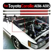 من ألياف الكربون غطاء محرك السيارة تعديل الدعامات الغاز رفع الدعم لتويوتا كورولا ليفين AE86 AE85 1983 1987 امتصاص الصدمات الغاز المثبط