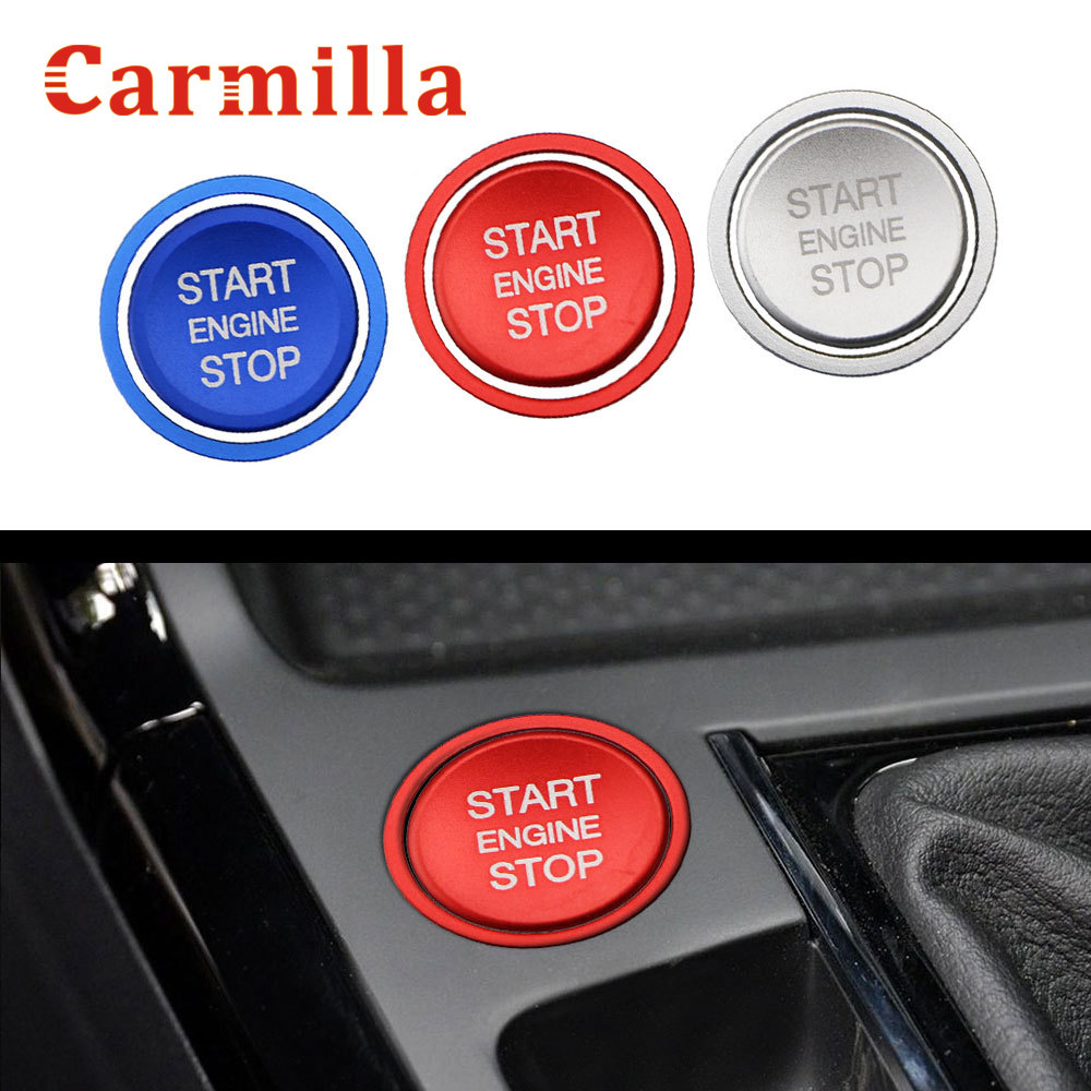 Car Engine Start Stop Button Decoration Cover Ring Ignition Trim Sticker Decoration For Volkswagen VW Passat B8 2017 - 2019