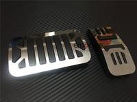 لا الحفر! 2 قطعة الغاز الوقود الفرامل القدم وسادة الدواسة مجموعة أطباق عدة ل جاكوار XJ X351 2009 + سيارة التصميم