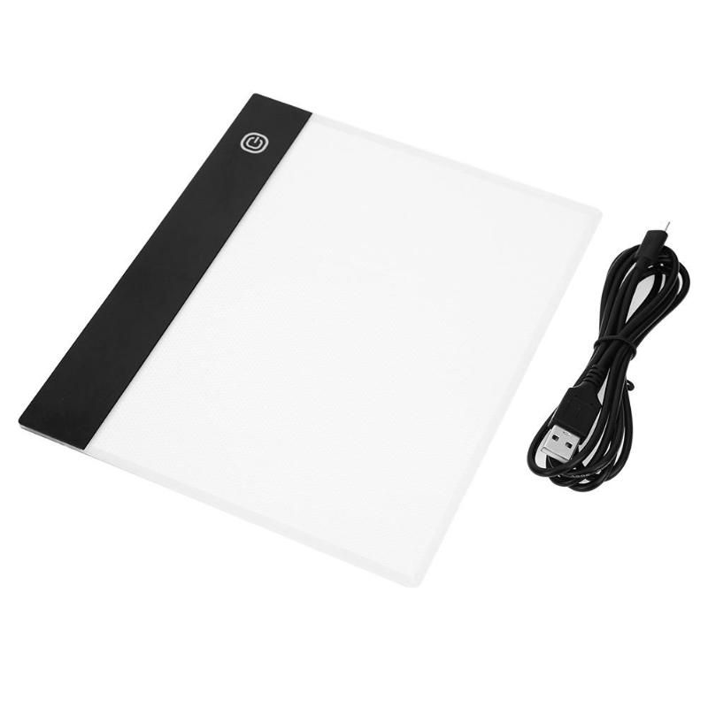 VKTECH <font><b>A5</b></font> <font><b>LED</b></font> Drawing Tablet Digital Art Graphic Tablets Electronic USB Writing <font><b>Pad</b></font> Painting Copy Board Graphics <font><b>Light</b></font> Box Panel image