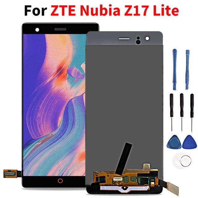 """ЖК дисплей 5,5 """"для zte Nubia Z17 Lite NX591J ЖК дисплей кодирующий преобразователь сенсорного экрана в сборе Запасная часть"""
