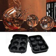 Ледовые шарики производитель круглая Сфера лоток кубик прессформы шарик виски коктейлей из силикона
