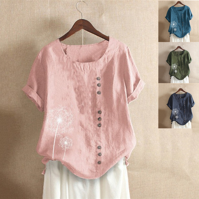Tunic Tops Casual Short Sleeve Blouse 2