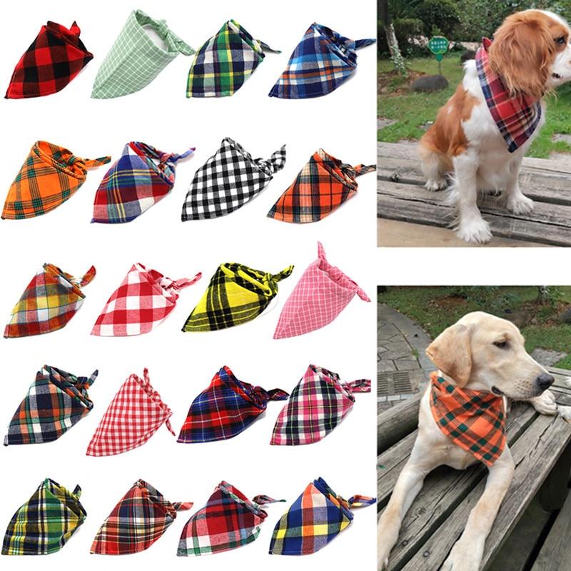 Cão bandana algodão xadrez lavável inverno animal de estimação bandanas cachecol laço laços colar gato pequeno médio grande cão grooming produtos