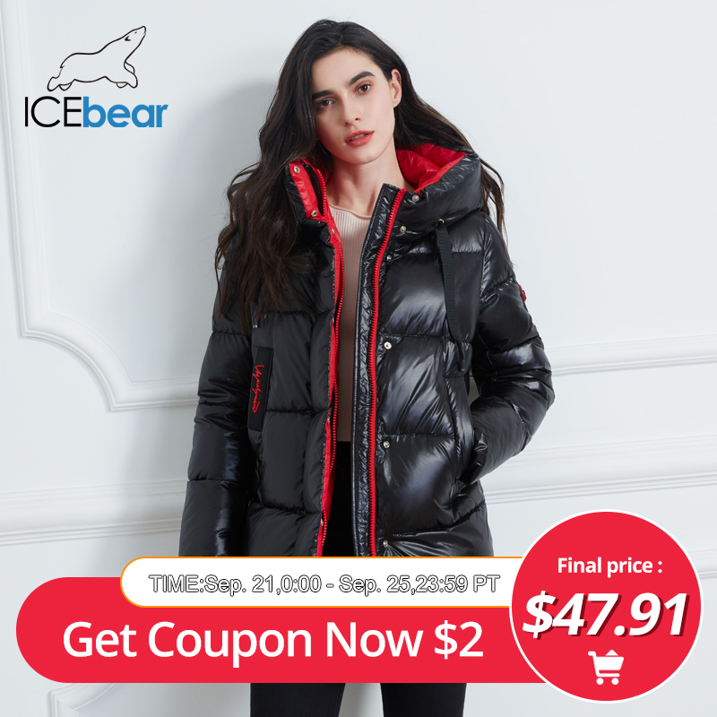 ICEbear 2020 New Winter Jacket High Quality Hooded Coat Women Fashion Jackets Winter Warm Woman Clothing Casual Parkas GWD19502I(China)