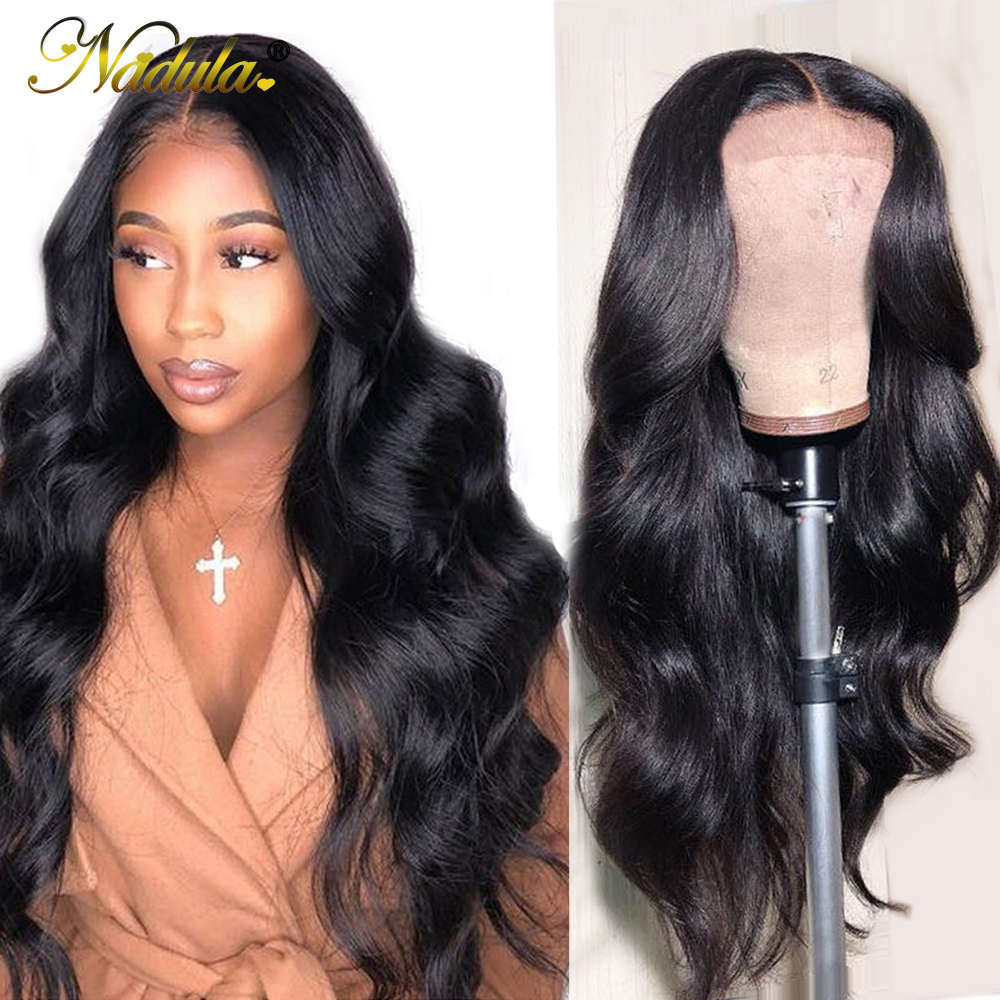 Nadula Wig Human-Hair-Wigs Lace-Front Body-Wave Brown 360-Lace Medium Women Brazilian