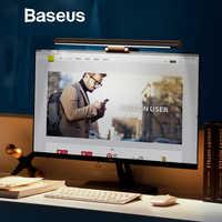 Baseus conduziu a lâmpada de mesa ajustável tela leitura pendurado luz computador lâmpada proteção para os olhos usb recarregável luz para escritório casa
