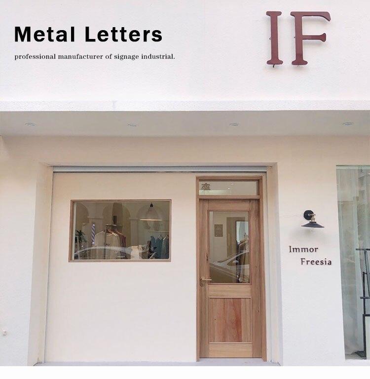 Metal Letter Sign (2)