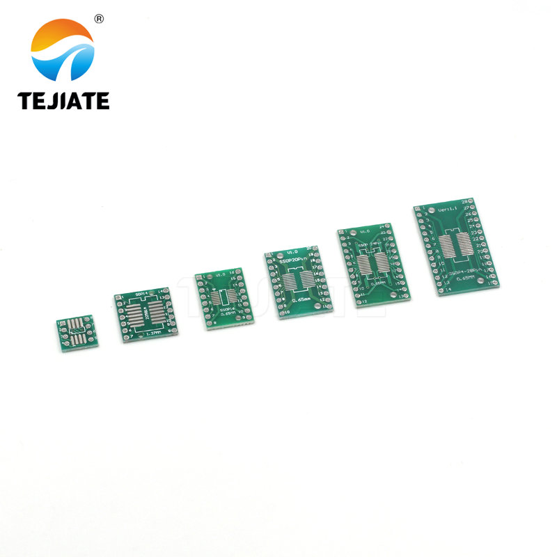 1pcs PCB Board Kit SMD Turn To DIP <font><b>Adapter</b></font> Converter Plate SOP MSOP <font><b>SSOP</b></font> TSSOP SOT23 8 10 14 16 20 28 SMT To DIP image