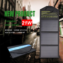 цена на foldable solar panel charger dual USB port 5v 2.1A output solar charger for phone outdoor camping