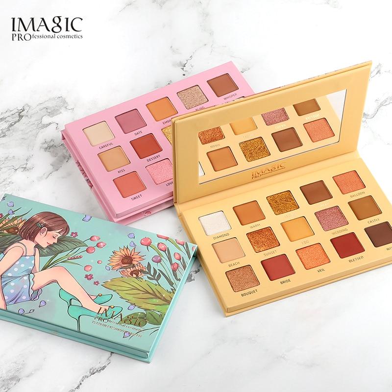IMAGIC 15 Cores Da Paleta Da Sombra Matte Shimmer Glitter Matte Paleta De Maquiagem Collectie Charmoso Oogschaduw Kleurenpalet