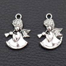 Angel charm, ,Angels Blowing Trumpets Charms ,Lovely Angel Pendant,Angel Wings Charms,Tibetan Silver Charms, A1985 15pcs wings amulet pendant angel wings charms rose wings charms diy handmade jewelry charms tibetan silver tone a2022 10pcs
