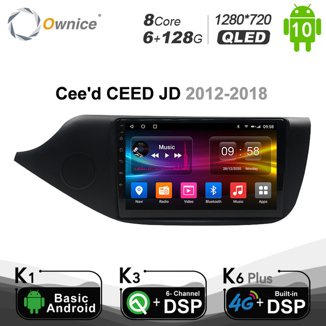 Ownice Android 10.0 Car DVD PC Player GPS Glonass Navigation Multimedia for  KIA Ceed CEED JD 2012   2018 DSP 4G SPDIF Auto RDS