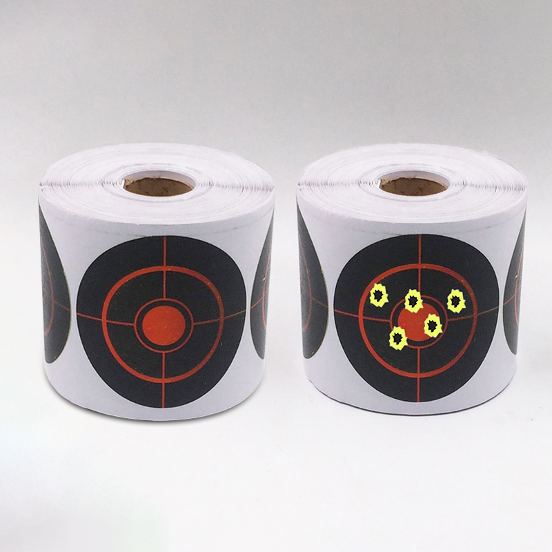 250 Roll Shooting Target Sticker 7.5cm Long Lasting Durable Shooting Accessories Bullseye Splashing Target Reactive Sticker
