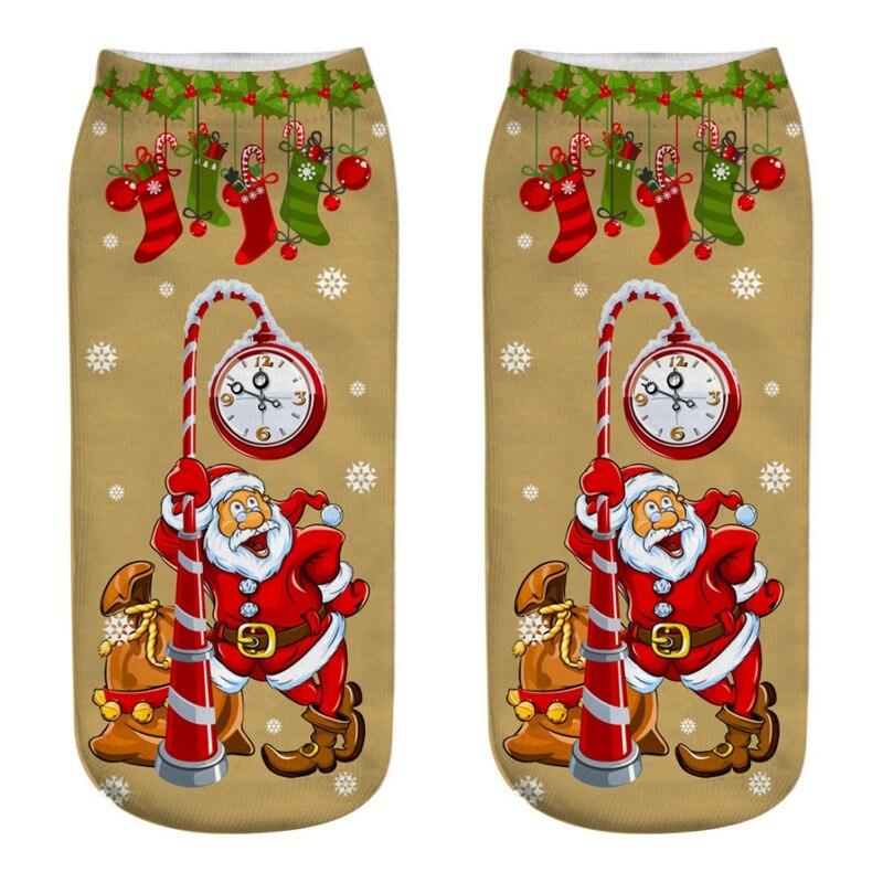 Durable Comfortable High Quality 3D Cartoon Woman Socks Funny Christmas Socks Cute Novelty Printed Ankle Comfortable Sock