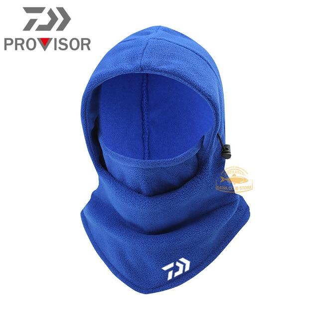 Winter DAIWA Fishing Mask Men's Outdoor Warm and Windproof Cycling Headgear Polar Fleece Face Protection Bib Fishing Hat 5