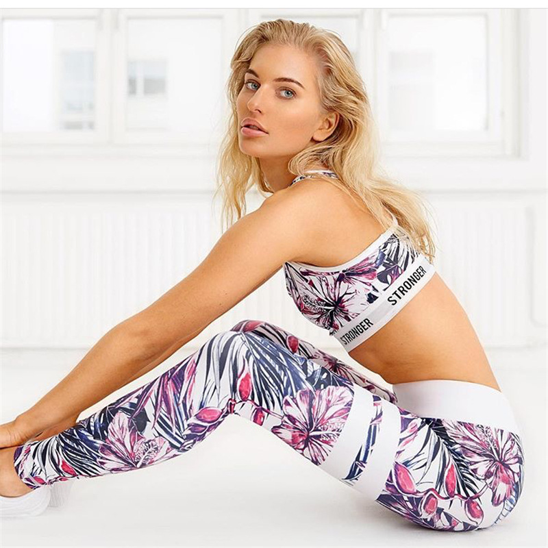 Quick-Drying High-Waist Leggings Rainforest Digital Printing Sports Leggings Outdoor Gym  Pants Women Leggings O5A034
