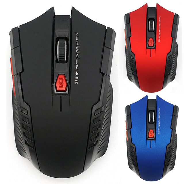 2000DPI 2.4GHz Wireless Optical Mouse Gamer for PC Gaming Laptops New Game Wireless Mice with USB Receiver Drop Shipping Mause