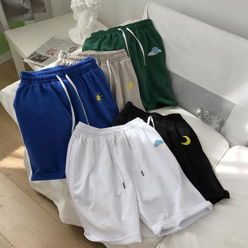 Summer Short Beach Shorts Men's Loose-Fit Sports 5 Running Pants Popular Brand Online Celebrity INS Trend Versatile Shorts
