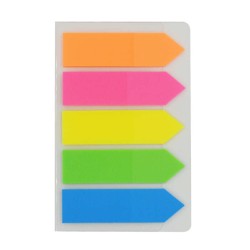 Deli Novelty Flak Stickers Scrapbook Adhesive Highlighter Transparent Index Tab Flags Page Marker School Memo Papers Pads