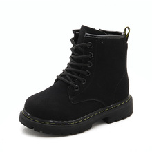 2019 New Fashion Big Kids Martin boys Boots Children Waterproof Autumn Shoes For Girl Winter Warm Boots Little Girl Non-Slip Boots Rose Red Brown Black 3 4 5 6 7 8 9 10 11 12 Year Old 2019 autumn new fashion children single boots male girl shoe soild student non slip short boots child martin boots